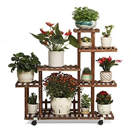 Amazon.com: Soporte de madera maciza con diseño de flores ...