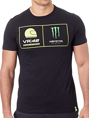Valentino Rossi Vr46 Moto Gp Monster Energy Dual T Shirt Offiziell