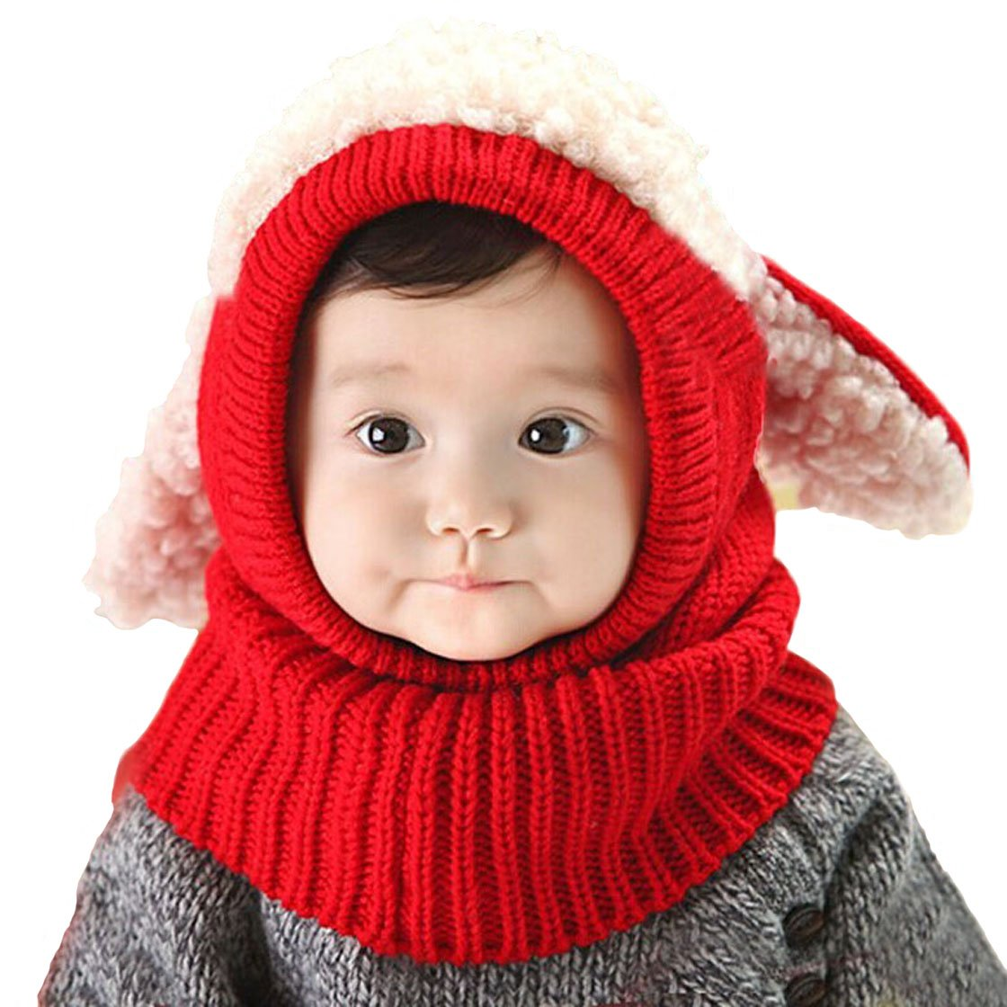 King Star Toddler Baby Kids Girls Winter Warm Woolen Scarf Caps Hooded Hats H6101201-4