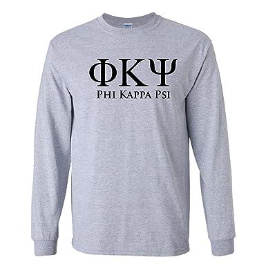 Greek Letter Before Kappa.Phi Kappa Psi Long Sleeve T Shirt Black Greek Letters Design