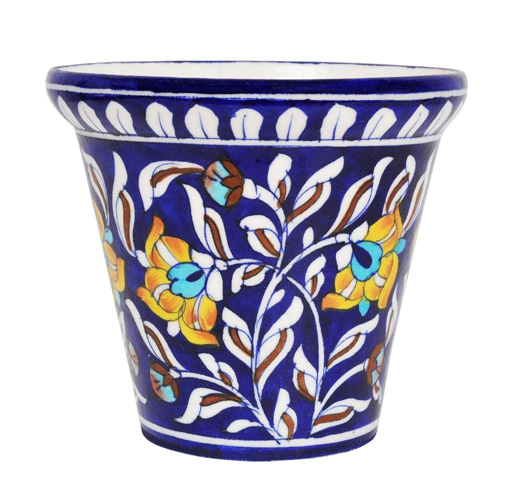 Amazon Lalhaveli Blue Pottery Ceramic Flower Pots Indoor