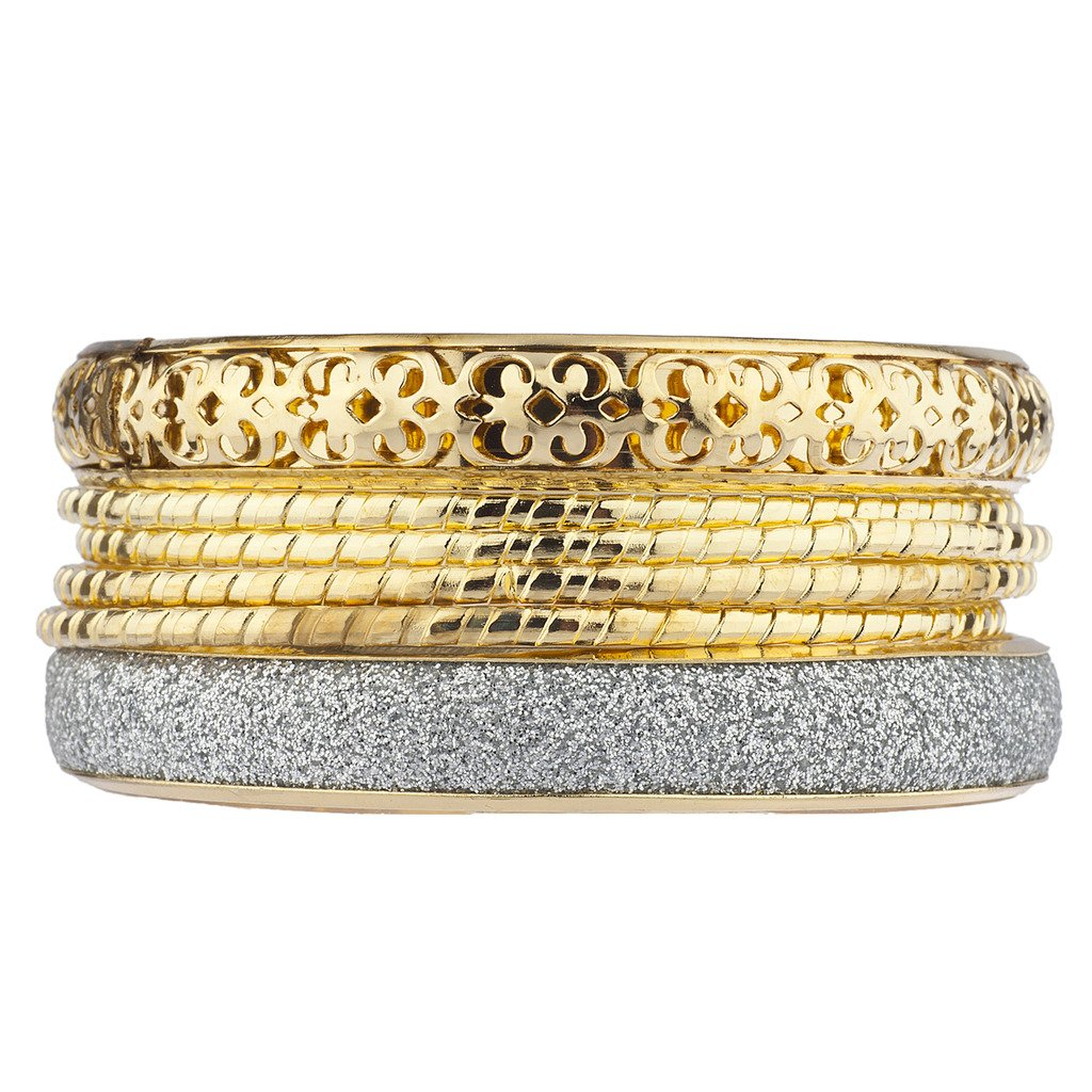 Lux Accessories Women's Multi Bangle Bracelet Set B165354-2-B125