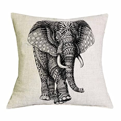 Ornate animales funda de cojín búho elefante koala impreso ...