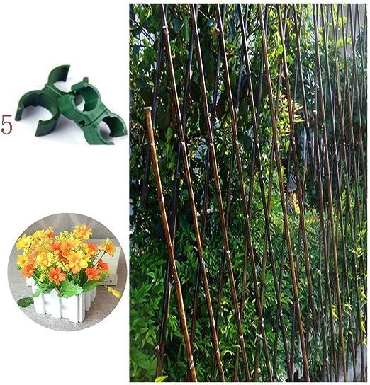 XCJ Expansión Valla Madera De Bambu, Ajustable Jardín Plantas Trepadoras Marco De Obstáculo Extensible Encogimiento Expandible Enrejado (Hebilla Fija + Bonsai Plastico) Uso Interior Y Exterior: Amazon.es: Hogar