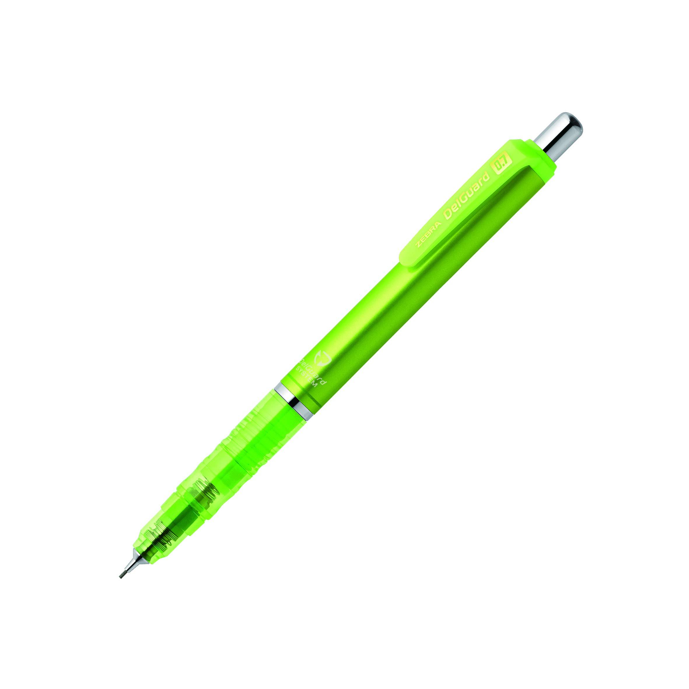 1 Lápiz Mecánico de 0.7mm Color Verde Brillante Marca Zebra