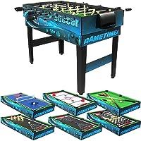 Sunnydaze Decor 10Combinación Multi Mesa de Juego con billares, Push Hockey, Futbolín, Ping Pong, y más, 101,6cm
