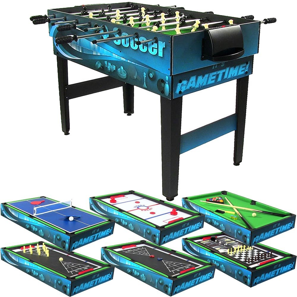 Sunnydaze 10 Combination Multi Game Table with Billiards, Push Hockey, Foosball, Ping Pong, and More, 40 Inch by Sunnydaze Decor