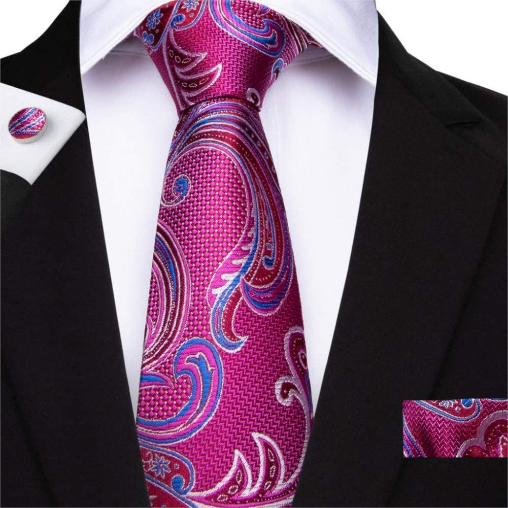 ABDYTE Conjunto de Corbata Rosa roja para Hombre Corbatas ...