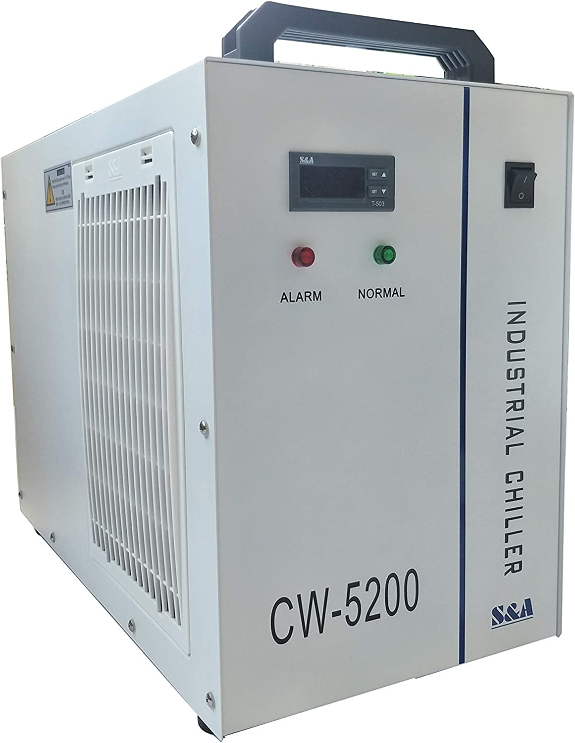 S&A Genuine CW-5200DH (5200DG upgraded) Industrial Water Chiller 6L Capacity Cooling Water for 80W-150W CO2 Engraving Cutting Machine