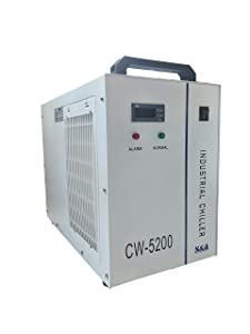 S&A Genuine CW-5200 DH (DG Upgraded) 110V Water Chiller for 130W 150W 180W Tube