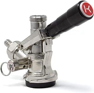 Kegco KC KT85D-L Keg Coupler D System, 1, Black