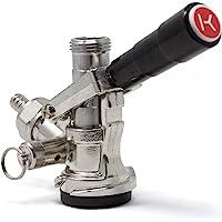 Kegco KC KT85D - barril de cerveza D L acoplador grifo Handl e sistema de palanca, negro
