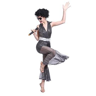 60s 70s 80s Groovy Disco Diva Dancing Queen Jumpsuit Costume