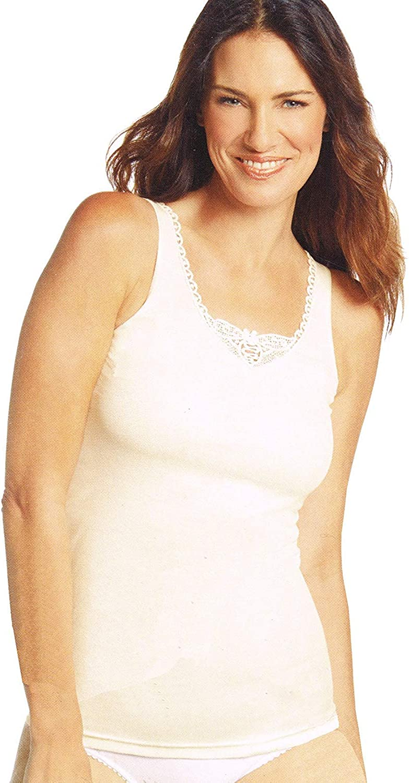 WB Esmara/® Lingerie Damen Unterhemd mit edler Stickerei
