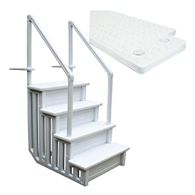 Generic safety step above ground swimming pool ladder