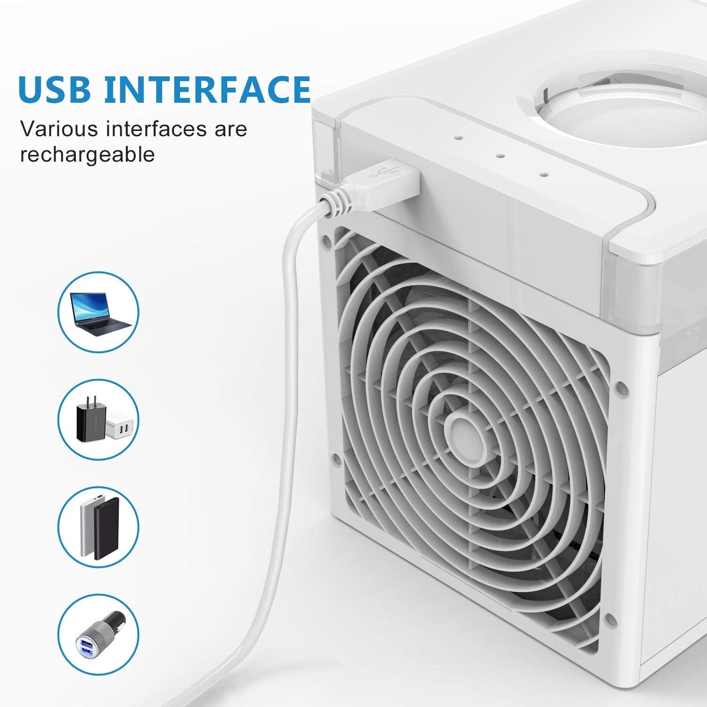 Broco de aire m/ás fresco port/átil personal del acondicionador de aire del ventilador mini refrigerador de aire del humidificador purificador de aire m/ás fresco del aire del ventilador de refrigeraci/ó