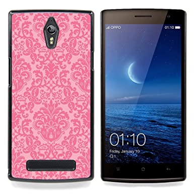Vintage Retro Rustic Pink Wallpaper Hard Snap On Cell Phone Case Cover
