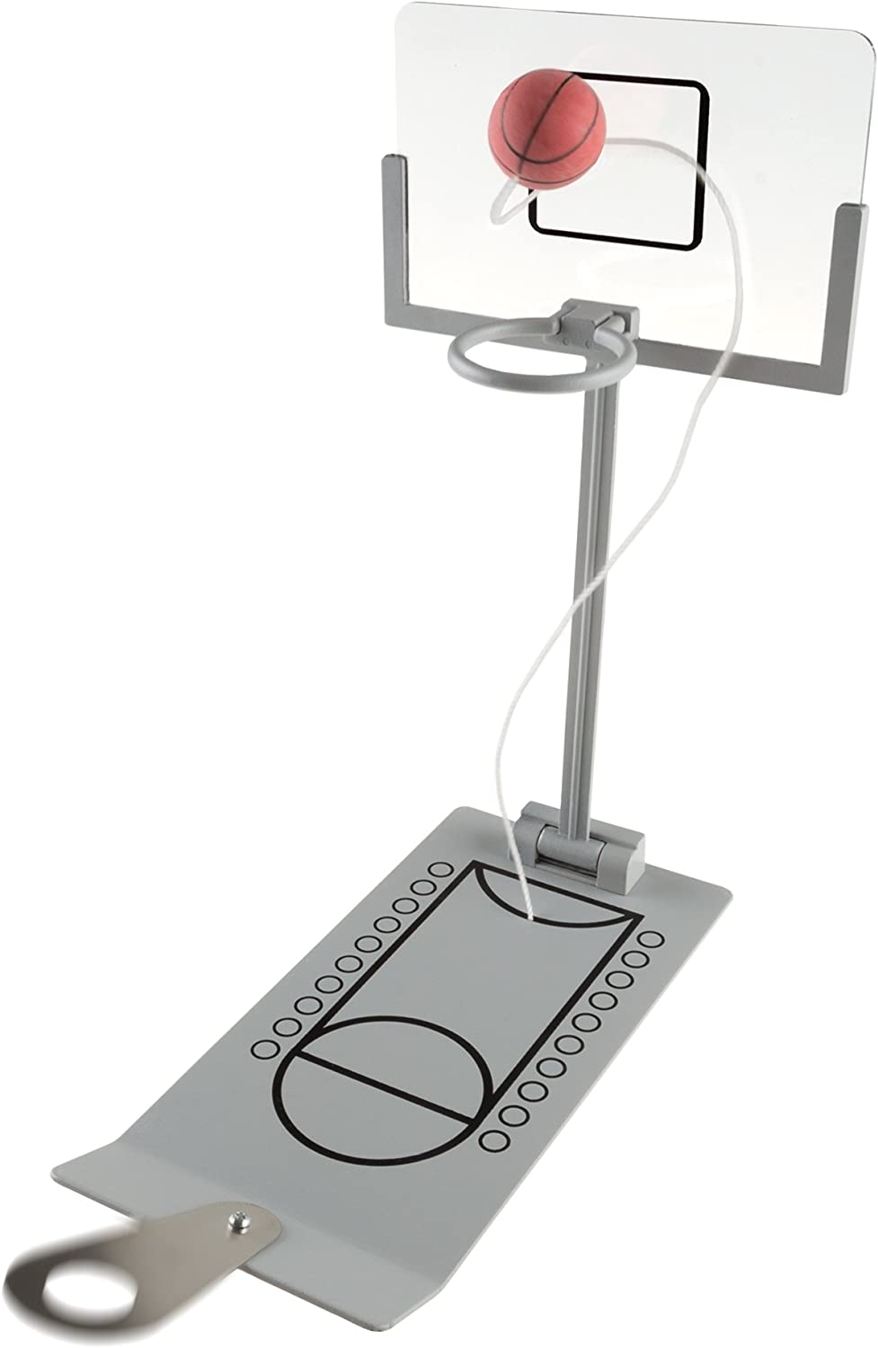 Hey! Play! Mini Basketball Arcade Game, Desktop Basketball Shooting Game with Folding Spring-Loaded Basketball for Adults, Kids, Boys and Girls