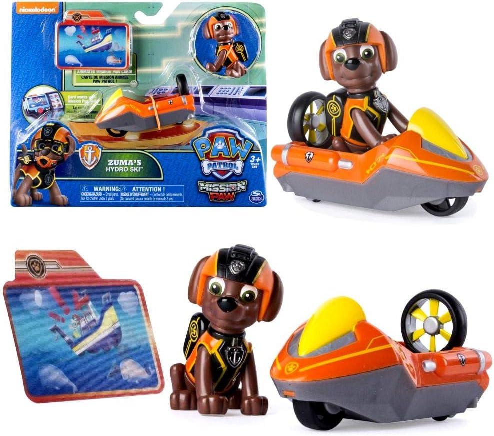 PAW PATROL Mission Paw   Selección Mini Vehículos con Figure Patrulla Canina, Figura:Zuma: Amazon.es: Juguetes y juegos