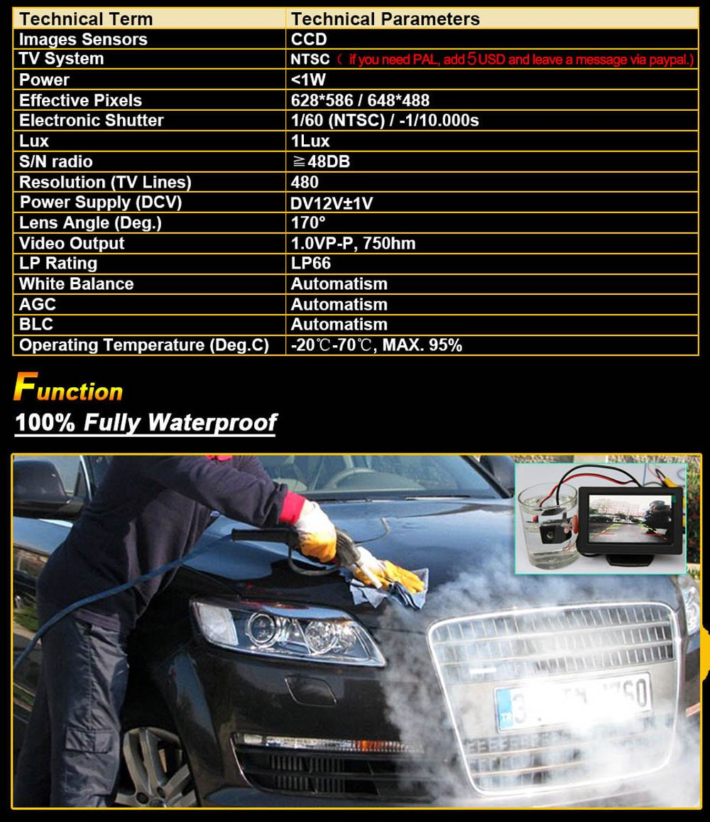 Navinio Car Front View Logo Embeded Camera for Toyota Prado Land Cruiser 2014 2015 2016 with CCD Waterproof IP67 Wide Degree ,Black 5558990377 Middle
