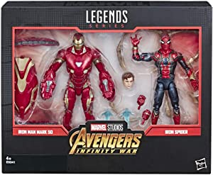 Marvel Legends Series Avengers: Infinity War 6-Inch-Scale Movie-Inspired Iron Man Mark 50 and Iron Spider Collectible Action Figure 2-Pack