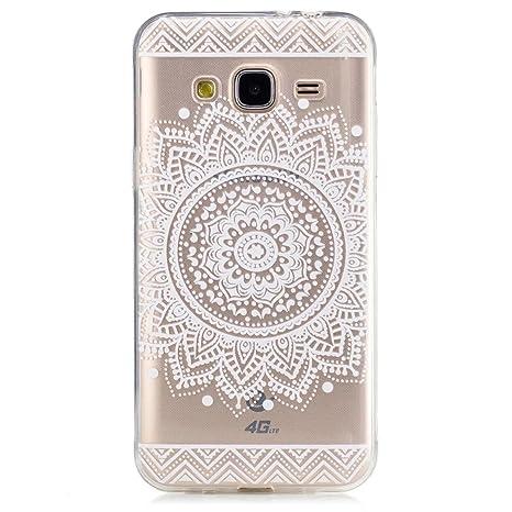 Funda Samsung Galaxy J3 2016, MHHQ Generic Slim Fit Carcasa Case TPU Bumper Silicona Gel Transparente Suave Goma Cover Anti-rasguños Galaxy J3 2016 ...