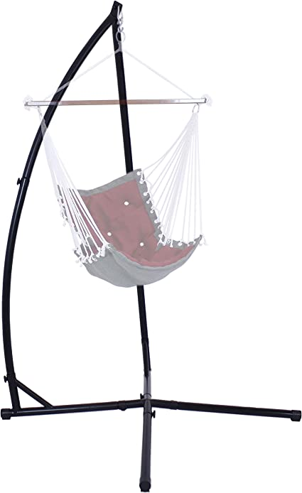 Amazon Com Sunnydaze Hammock Chair Stand Only Metal X Stand For Hanging Hammock Chair Indoor Or Outdoor Use Durable 250 Pound Capacity Garden Outdoor