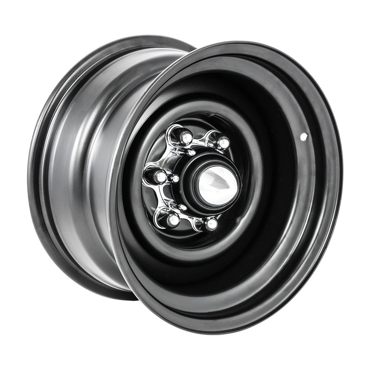 KNS Accessories KC6050 Chrome 6 Lug Spider Hub Cap for 1947-1972 Chevy,  GMC, Pick Up Truck, C10, C15
