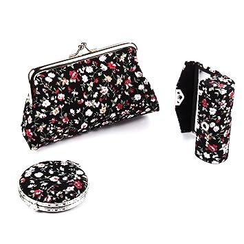 Amazon.com: Ezeso 3 en 1 floral organizador de cosméticos ...