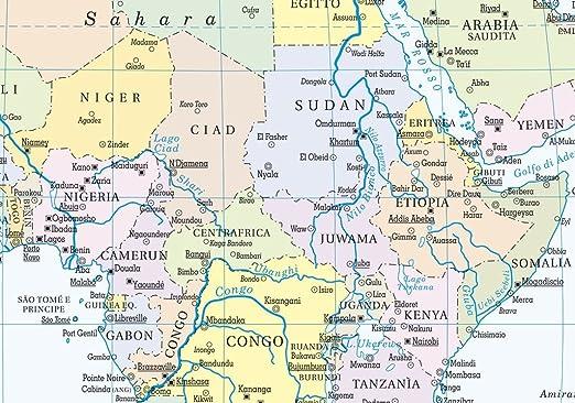 Malindi Cartina Geografica.Carta Geografica Mondo Fisico Politica Amazon It Cancelleria E