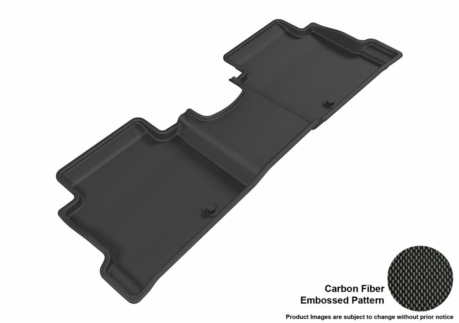 Gray 3D MAXpider L1HY07121501 Second Row Custom Fit All-Weather Floor Mat for Select Hyundai Elantra Models Kagu Rubber