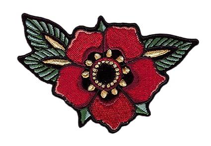 Tattoo Flower Biker Jacket Vest Patch Iron On Tatuaje Flor Parche ...