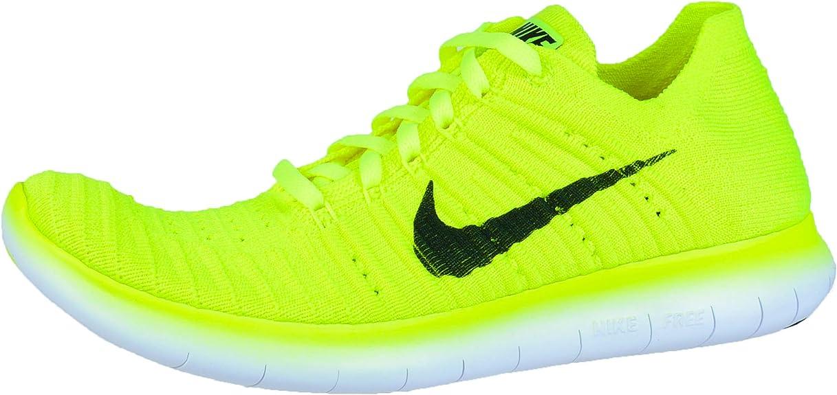 Nike Wmns Free RN Flyknit MS, Zapatillas de Running para Mujer, Verde (Volt/Black-White), 35 1/2 EU: Amazon.es: Zapatos y complementos