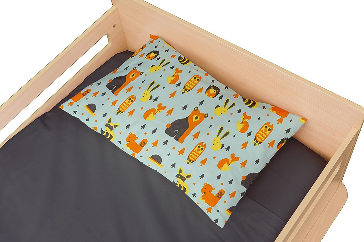 Toddler Pillowcase Woodland -Super Soft High Quality Microfiber That Is as Soft as 1500 Thread Count Cotton (Pillow 13x18) Where The Polka Dots Roam