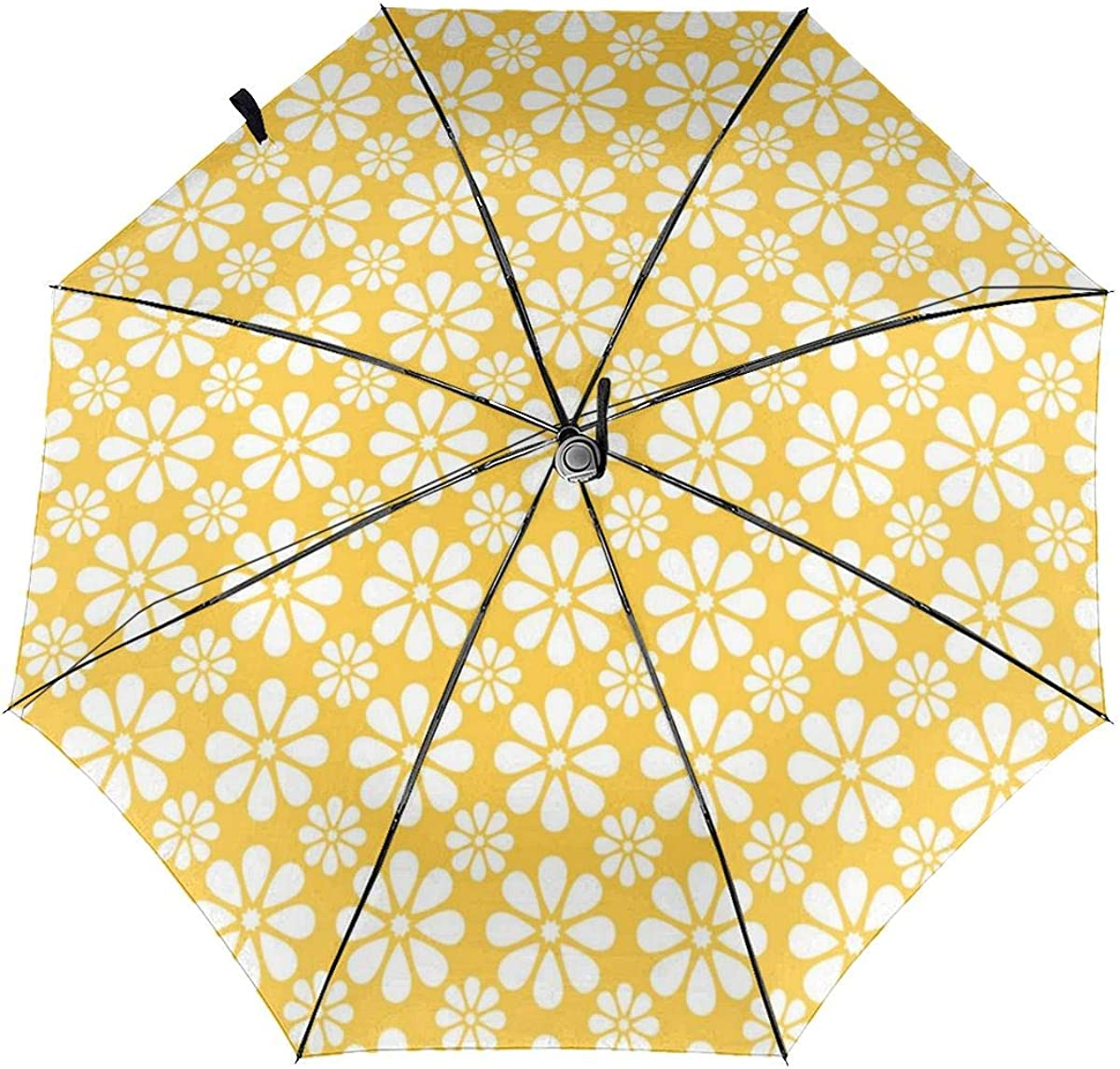 Grid Line Metal Pattern Background Compact Travel Umbrella Windproof Reinforced Canopy 8 Ribs Umbrella Auto Open And Close Button Personalized