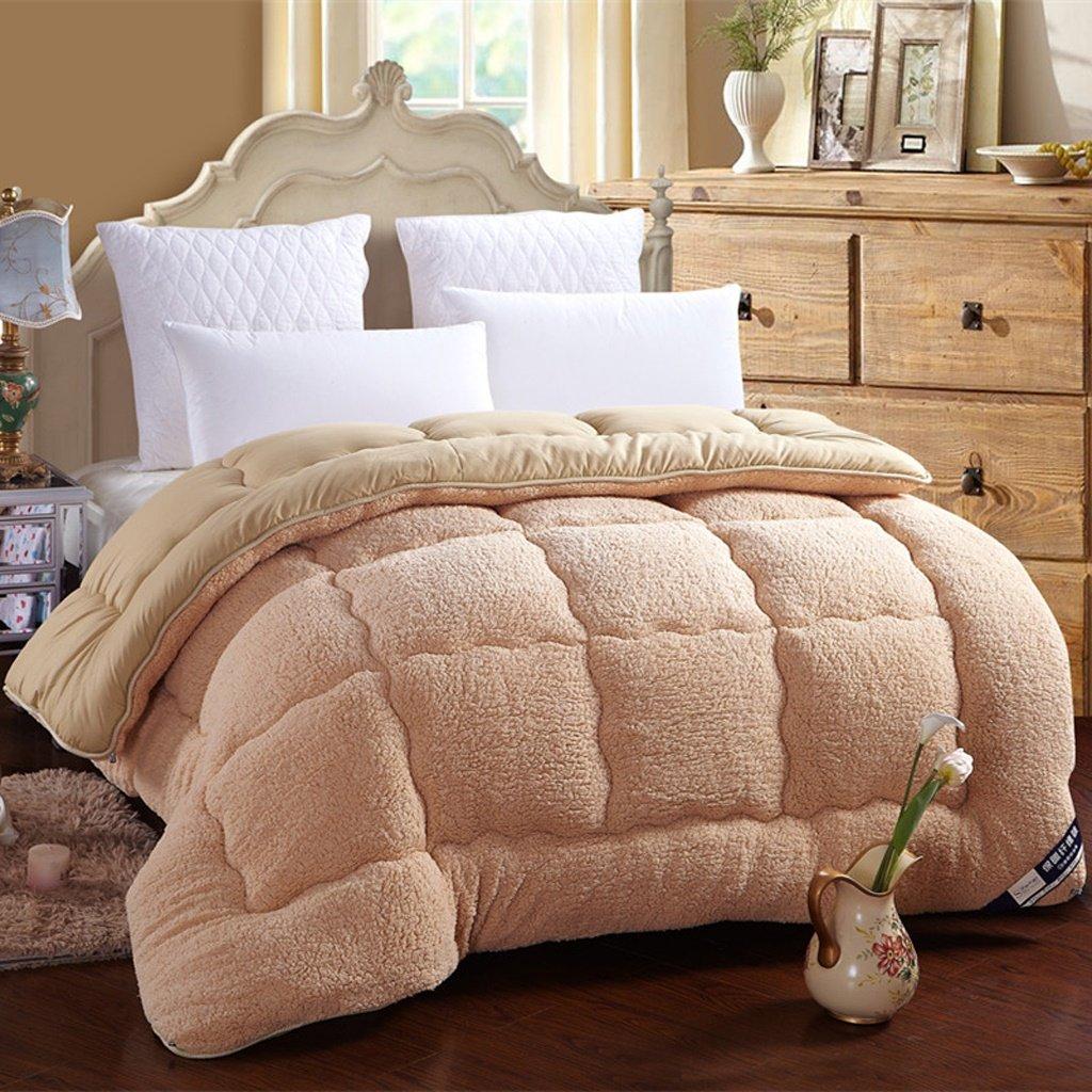 MMM Winter Student Dorm Room Lammfell Quilt Thicker Keep Warm Individuelle Frühling und Herbst Quilt Core Baumwolle Bettwäsche (Farbe   Kamel, größe   220  240cm(4kg))