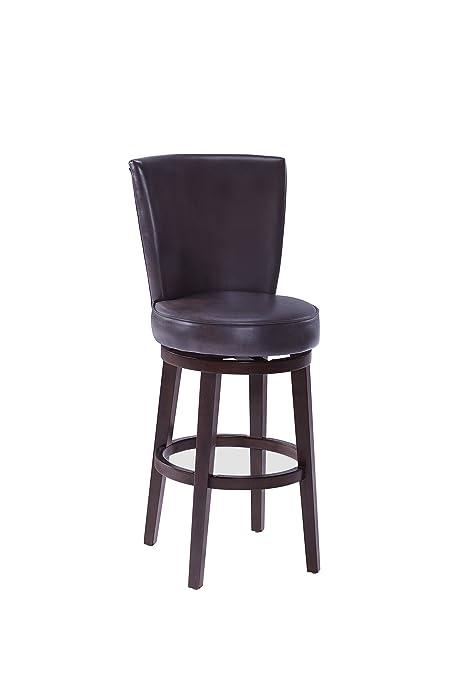 Pleasing Stylistics Albany Swivel Barstool 23 X 19 X 44 Chocolate Brown Inzonedesignstudio Interior Chair Design Inzonedesignstudiocom