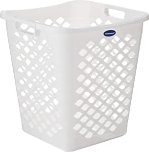 JCP JC-5948 Laundry Basket with Square Vent, White