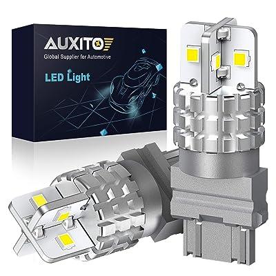 AUXITO 3157 LED Bulb White LED Reverse Light 3156 3056 3057 4157 Backup Light Brake Tail DRL Parking Light, 6000K, 3000LM, Pack of 2: Automotive