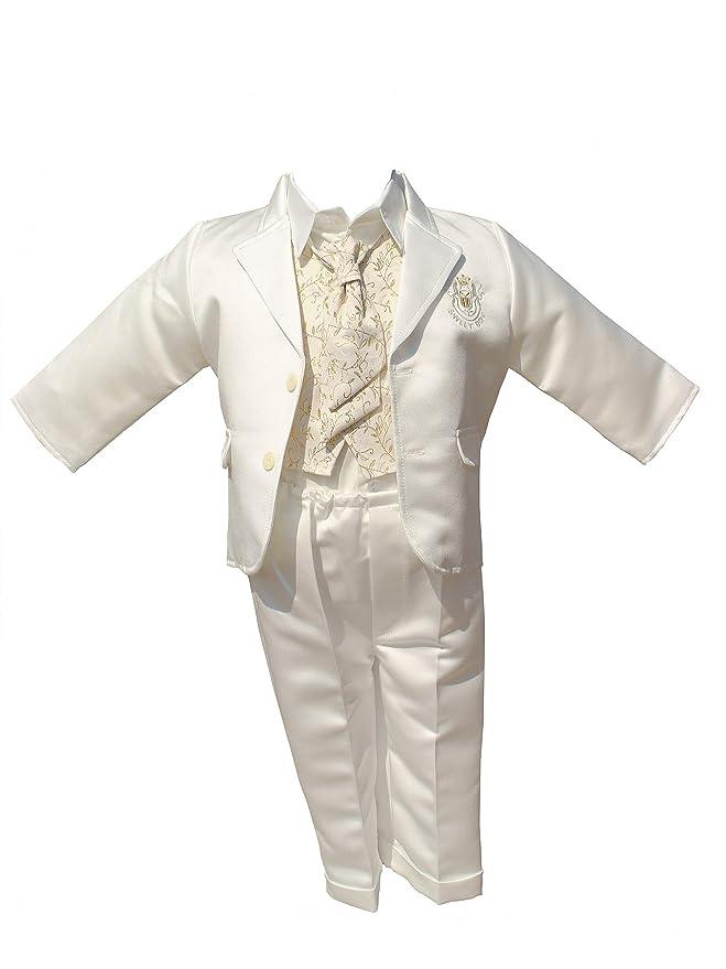 1 opinioni per LULINA Abito da battesimo elegante, vestito da cerimonia color panna raso.