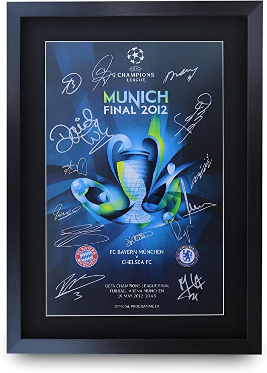 Champions League Munich 2012 - Signed A3 Photo Frame
