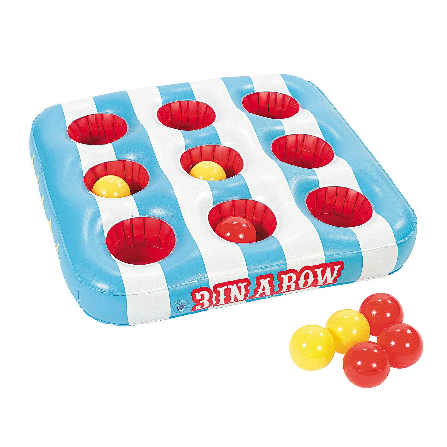 Fun Express Carnival 3 in A Row Floating Pool Game Includes 8 Balls by Fun Express