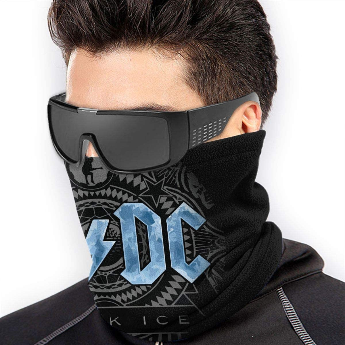 ACDC Highly Elastic Warm Microfiber Neck Thermal Mask Scarf Unisex Windproof Suitable For Winter