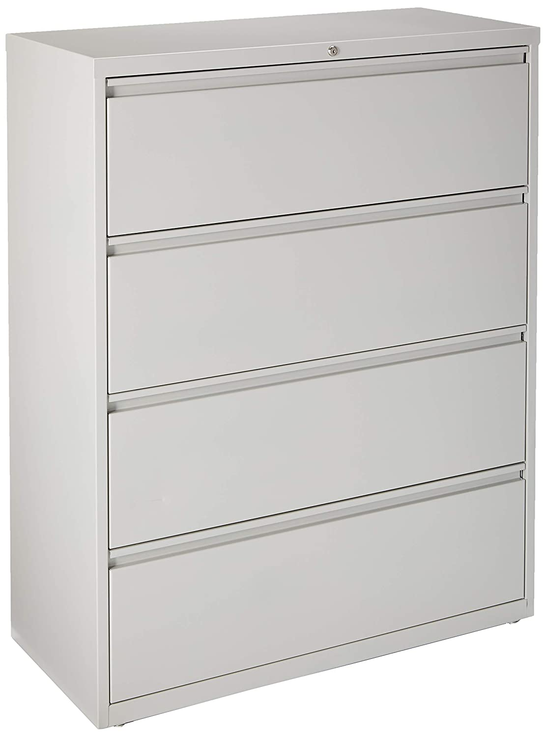 Lorell 4-Drawer Lateral File 42 by 18-5//8 by 52-1//2-Inch Gray