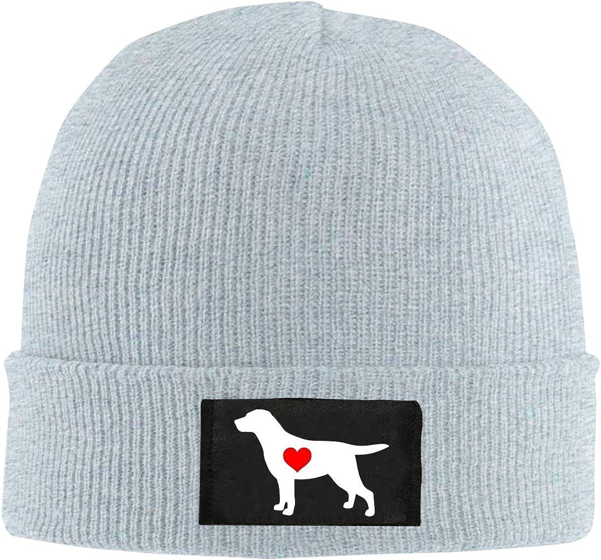 Dee O.STORE Mens Womens Labrador Heart Knit Beanie Hats 100/% Acrylic Skull Caps