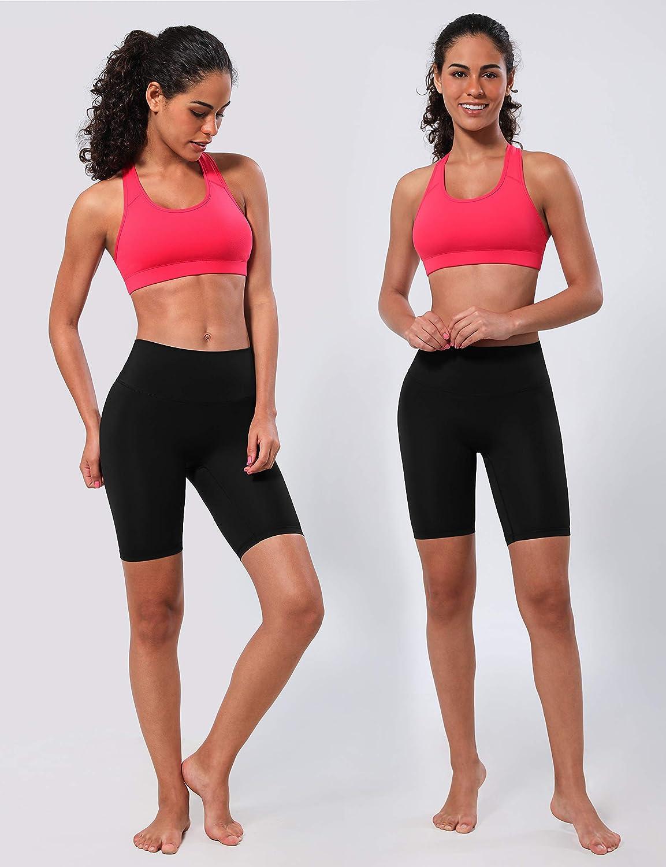 BUBBLELIME XXS-XL 2.5//4//8 High Waist Women Yoga Shorts Inner Pocket Tummy Control 4 Way Stretch Workout Running Shorts