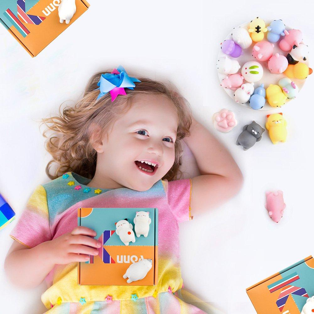 Amazon.com: KUUQA 30Pcs Animal Squishies Toys Easter Egg Fillers ...