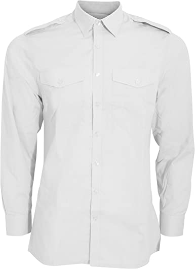 Kuston Kit - Camisa de piloto de Manga Larga Modelo Pilot Hombre Caballero: Amazon.es: Ropa y accesorios