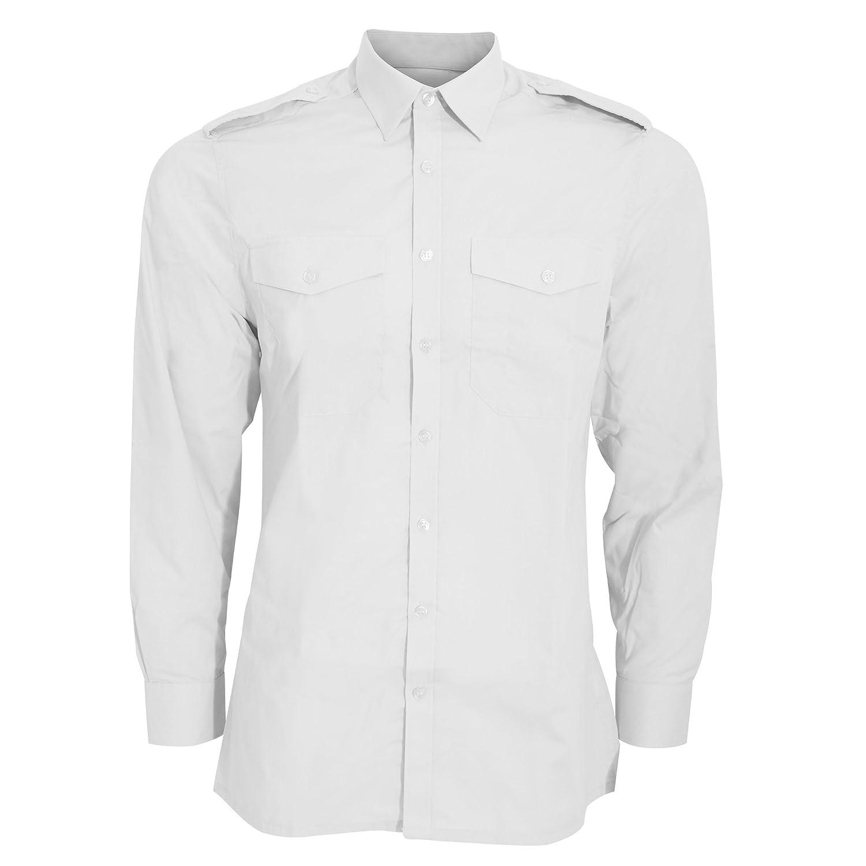 Kustom Kit Mens Long Sleeve Pilot Shirt (14.5) (White) UTBC3233_23