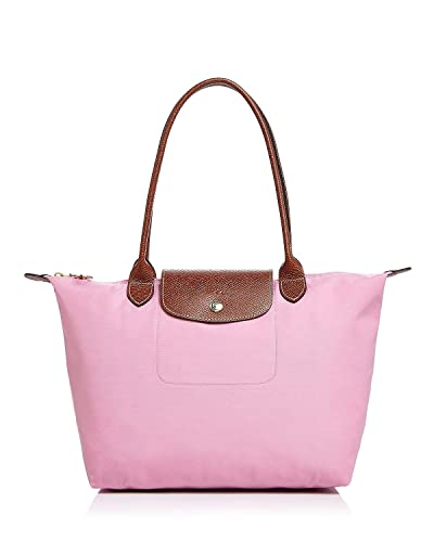 Image Unavailable. Image not available for. Color  Longchamp Women s Le  Pliage Pink Medium Tote Nylon Leather 136055c6c4